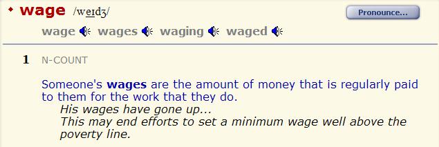 зарплата - wage - salary. разница 2