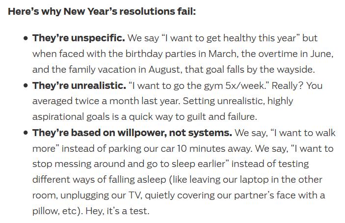 3 ошибки целей на год
