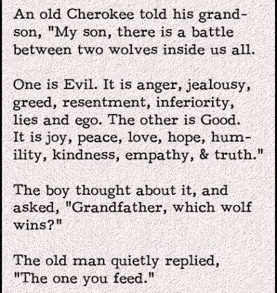 волк, которого ты больше кормишь