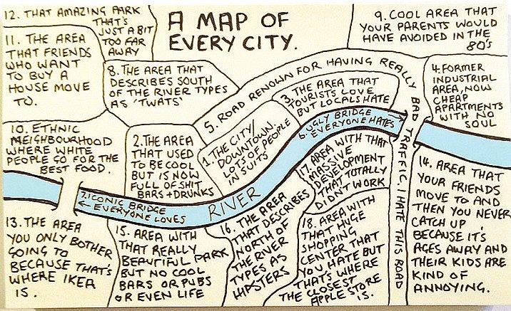 Любой город соответствует этой карте