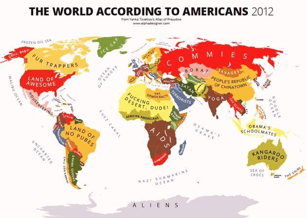 Как американцы именуют понаехавших. Карта мира.