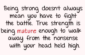 ___being strong