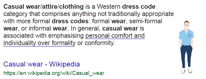 dress code casual это значит