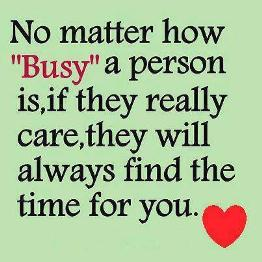 ___no matter how busy