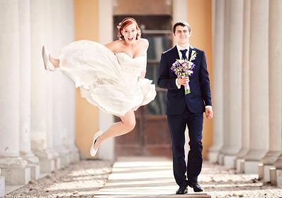 свадьба в прыжке