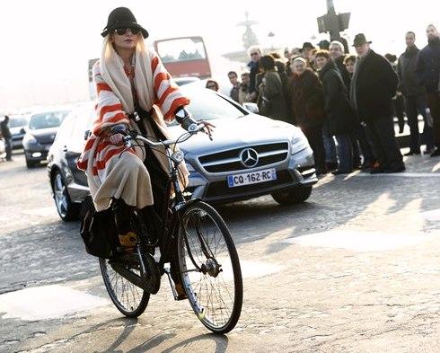 жен на вело