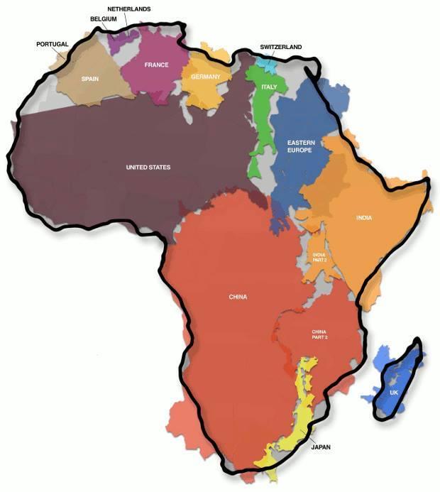 РАЗМЕРЫ АФРИКИ