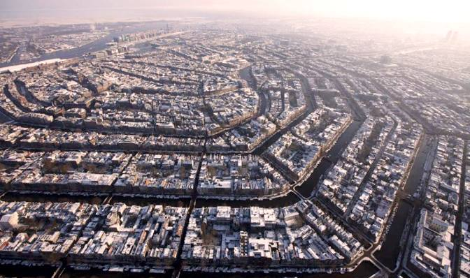 ____Aerial view of Amsterdam