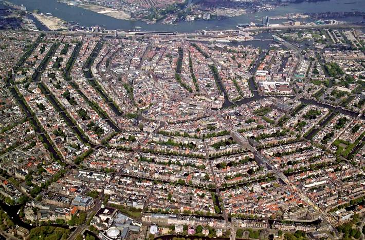 Aerial view of Amsterdam 2