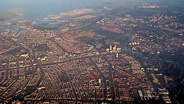 Aerial view of Amsterdam 3