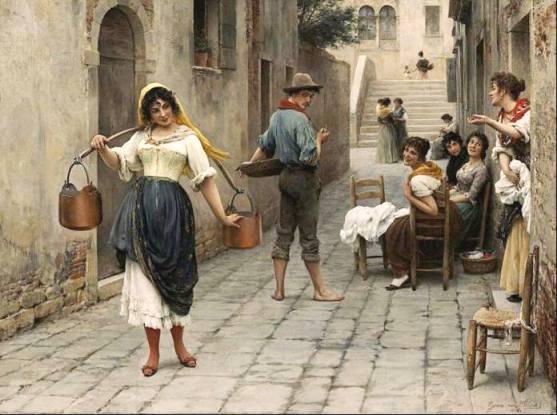 __Eugenio de Blaas - La preda del giorno