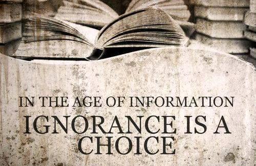 знание игноранс - выбор