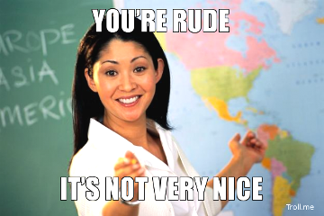 Respond to a Rude Person