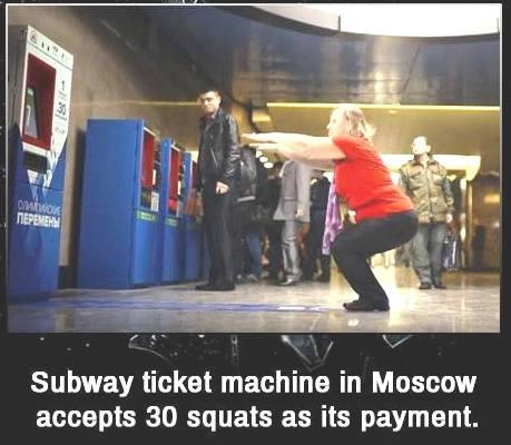 30 приседаний в метро мск. обсуждают американцы.