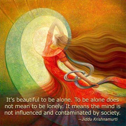 _____to be alone lonely