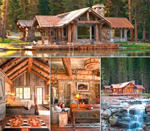 _____The Headwaters Camp Cabin in Big Sky, Montana