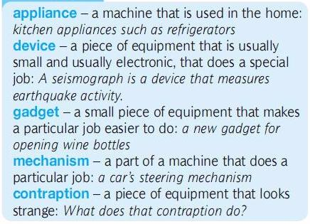 ___appliance, gadget, device, mechanism. разница