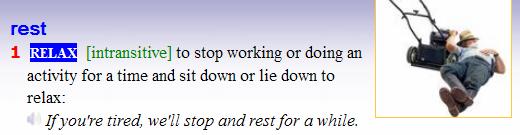 to rest - to have a rest. to try - to have a try. разница-