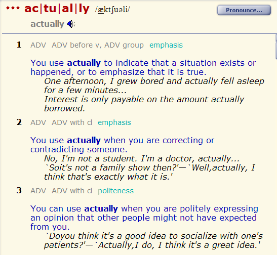 ever - actually - in general - generally. разница 1