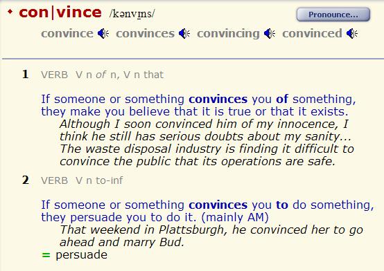 convince - persuade. разница