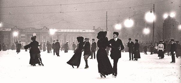 Ледовый каток. Вена, Австрия, 1910 г.