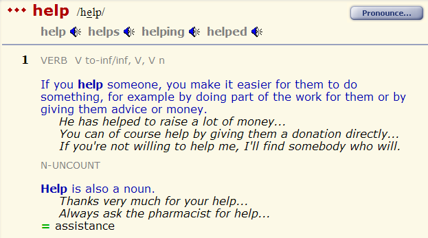 help - aid - support - assist. разница