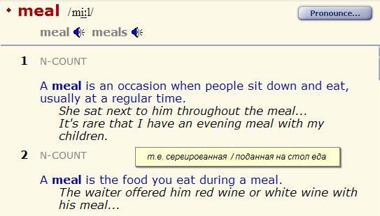 food - meal - nutrition - feed - feedback. разница