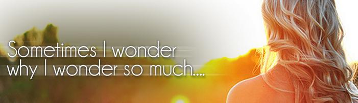 I wonder - I ask myself. разница.
