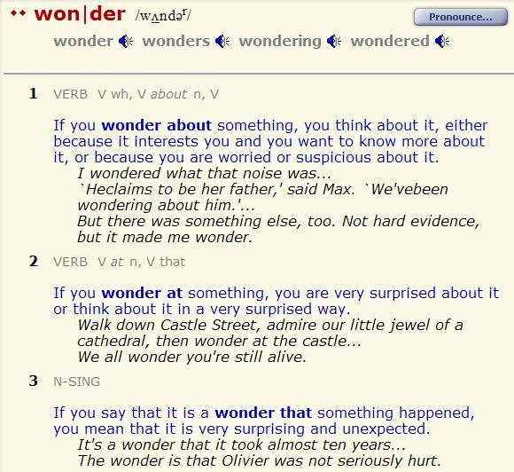 I wonder - I ask myself. разница--