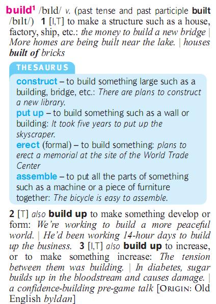 build - build up - built-up - pu up - construct - erect - assemble. разница