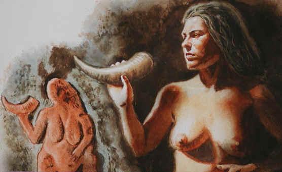 Venuše s rohem z Laussel (Francie)