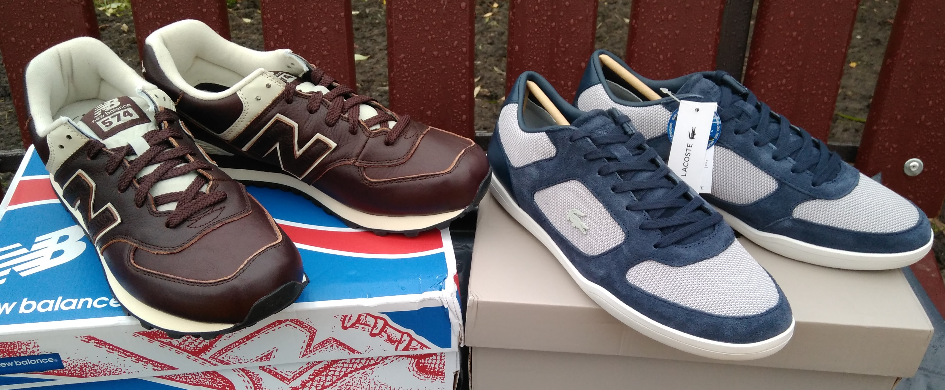 New Balance 574 Lux Leather и Lacoste Court-Minimal 217 1 CAM