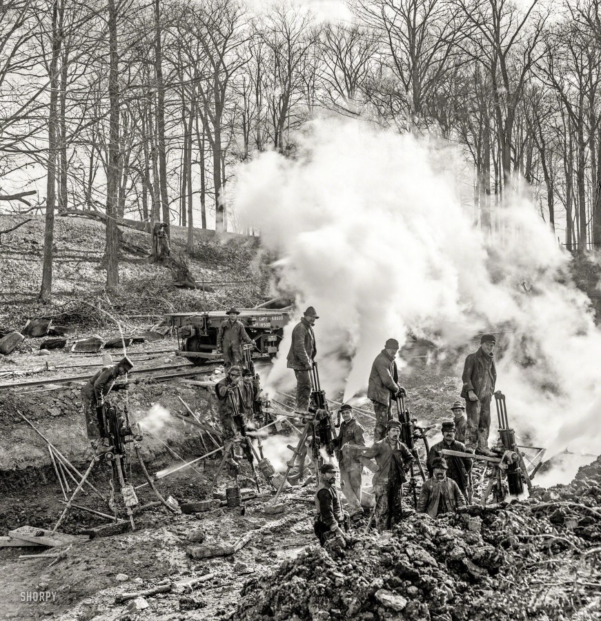 Steam drills 1905