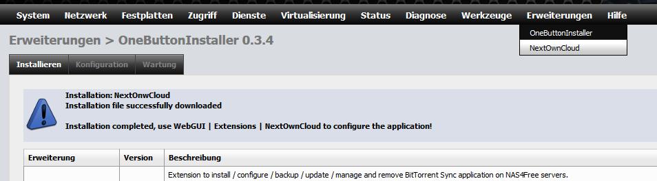 Расширение nas4free для NextCloud и Owncloud: 2gusia — LiveJournal