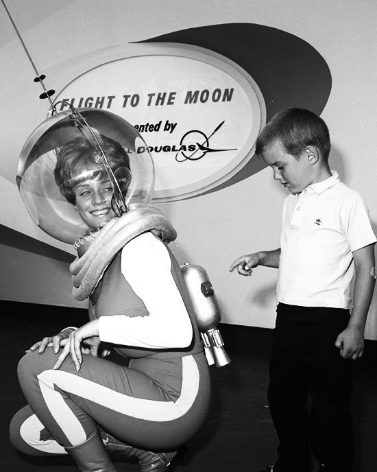 Flight to the Moon attraction at Disneyland, 1967