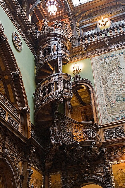 Staircase in a Transylvanian castle