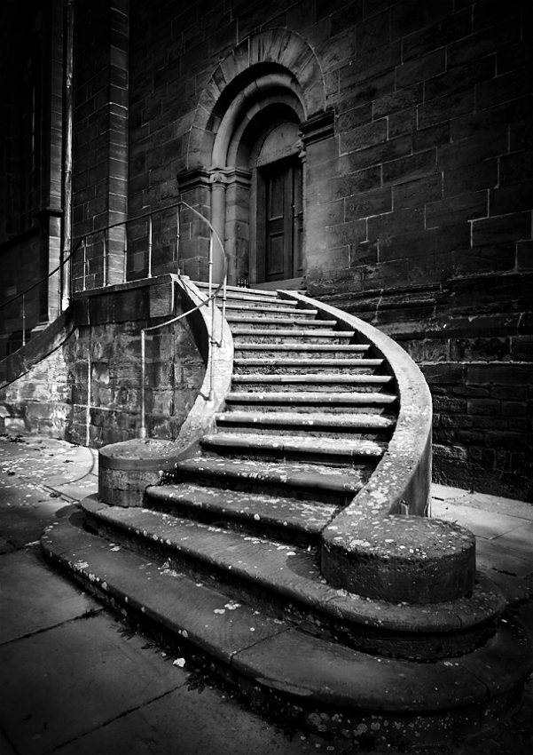 лестница ч б