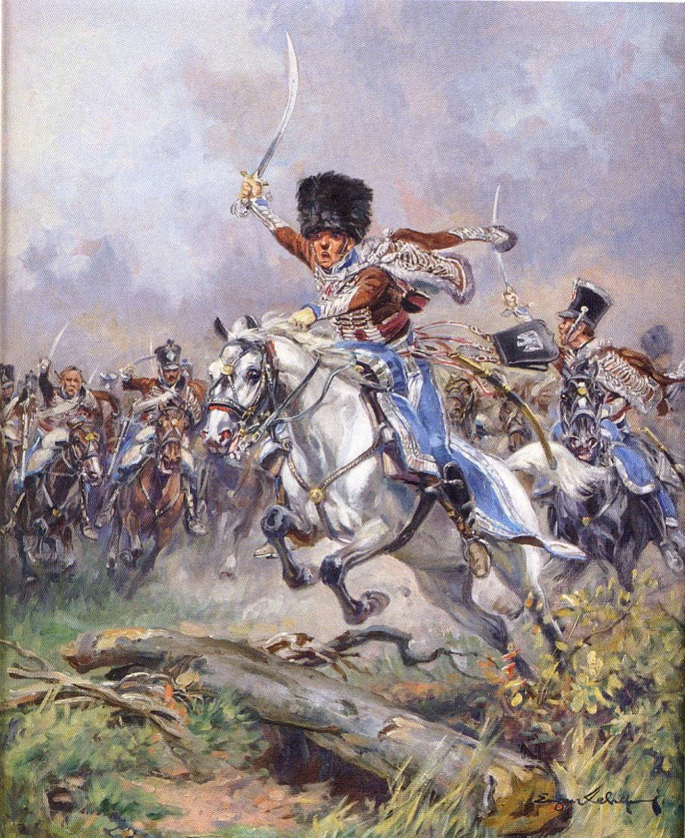 Charge of the French 2nd Hussars, by Leliepvre