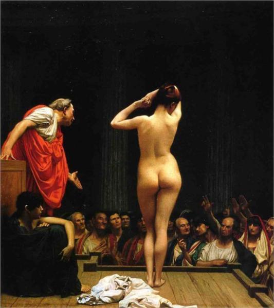 жан-леон жером A Roman Slave Market