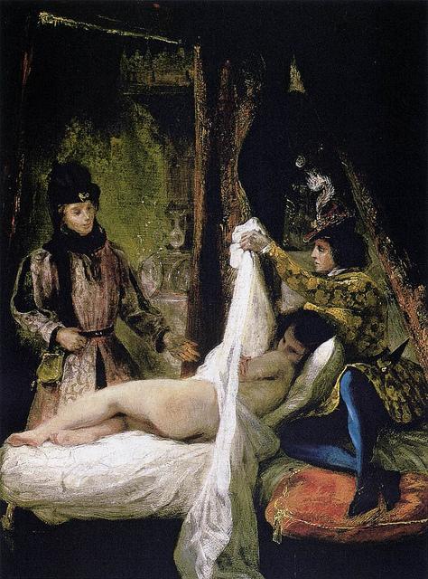 Эжен Делякруа Людовику Орлеанскому предлагают любовницу 1825-26