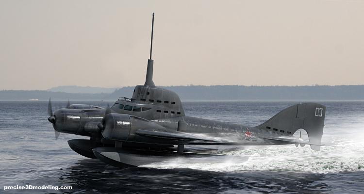 проект летающей подлодки Ушакова