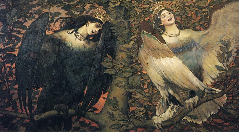 Victor Vasetsov - Sirin and Alkonost The birds of Joy and Sorrow (1896)