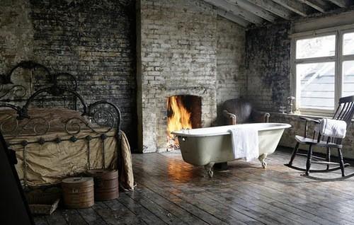 ванна в спальне