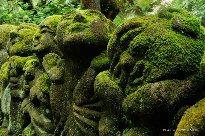 Stone Statues at Buddhist Temple in Kyoto 2