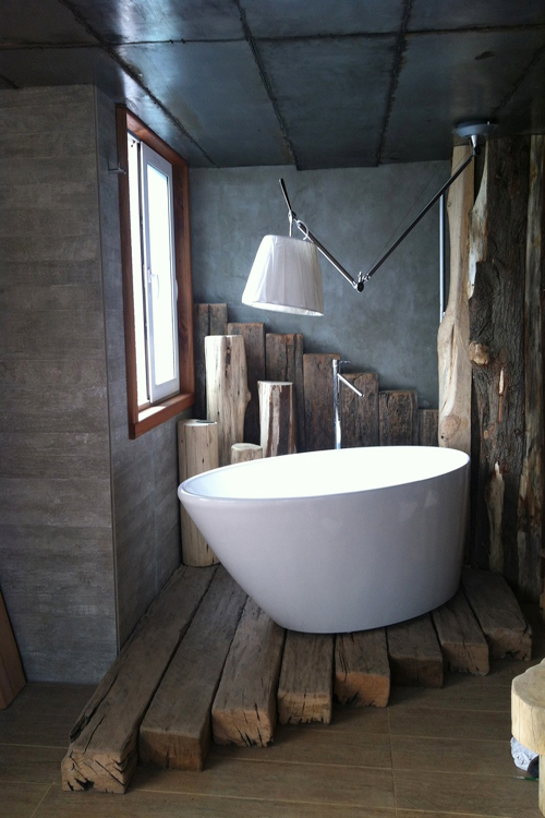 ванная лесоповал