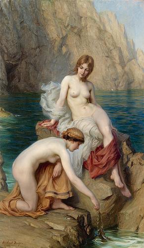 Herbert James Draper летом у моря