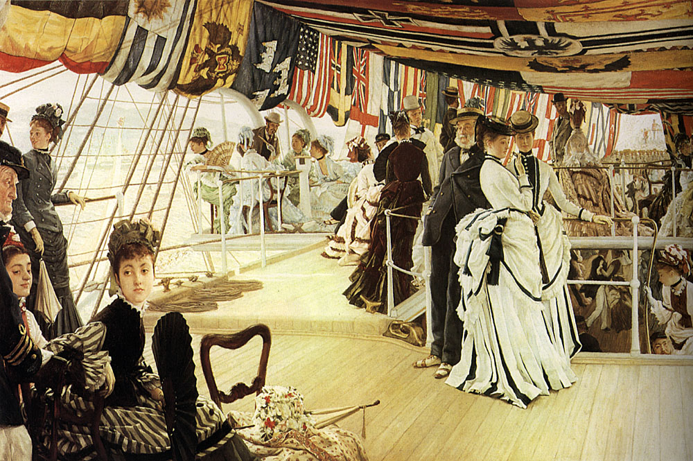 James Jacques Joseph Tissot, The Ball on Shipboard, 1874
