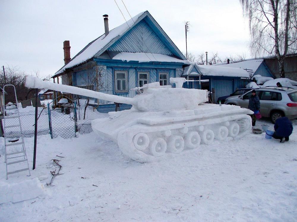 русский снеговик