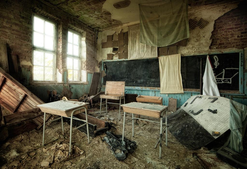 Abandoned school, Sweden
