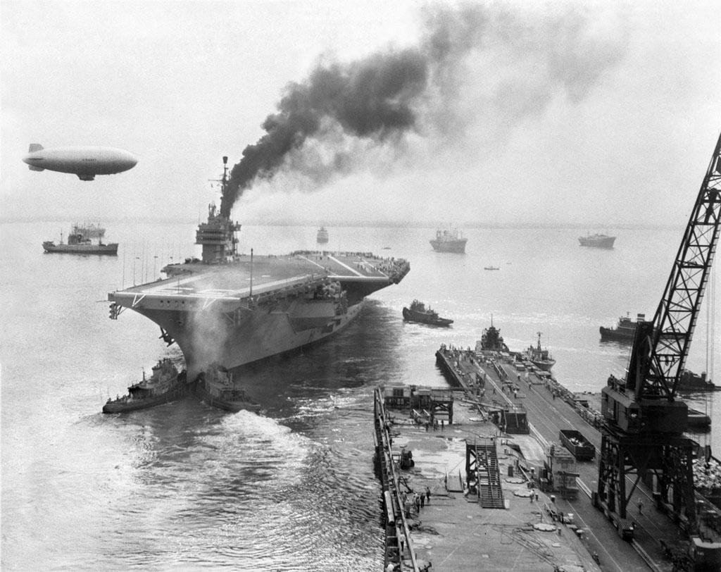 USS Forrestаl 1955